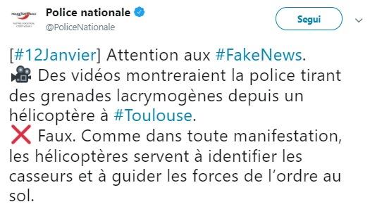 La bufala degli elicotteri di Macron che lanciano lacrimogeni ai Gilet gialli foto 4