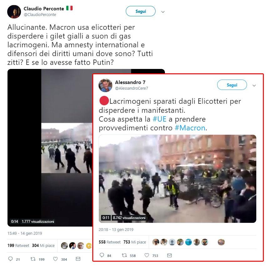 La bufala degli elicotteri di Macron che lanciano lacrimogeni ai Gilet gialli foto 5
