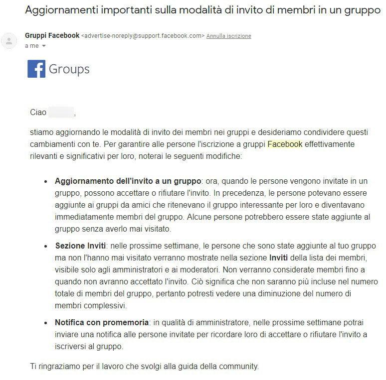 Facebook: la bufala degli utenti non attivi eliminati dai gruppi foto 2