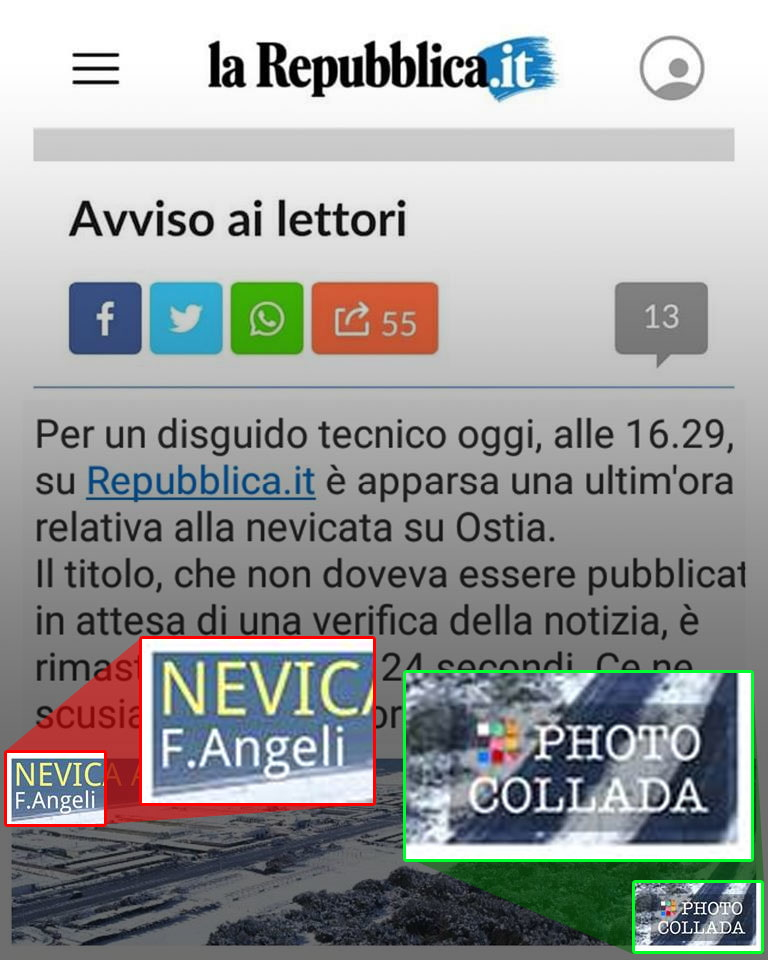 L'anti-bufale: un fotomontaggio per screditare la Angeli e Repubblica foto 3
