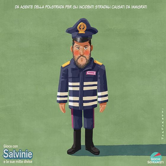 «Salvini e i suoi accessori»: le illustrazioni satiriche di Stefano Tartarotti foto 9