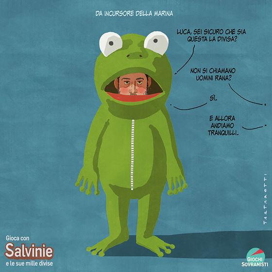 «Salvini e i suoi accessori»: le illustrazioni satiriche di Stefano Tartarotti foto 7