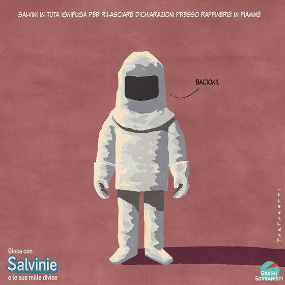 «Salvini e i suoi accessori»: le illustrazioni satiriche di Stefano Tartarotti foto 4