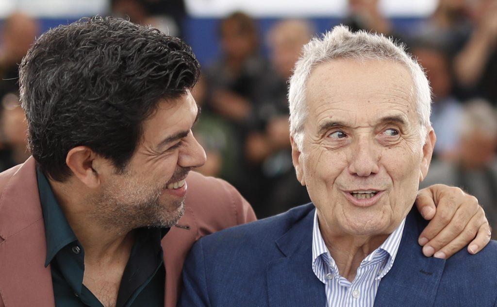 Il regista Marco Bellocchio, a destra, e l'attore Pierfrancesco Favino durante il photocall per 'Il Traditore (The Traitor) al 72esimo Festival di Cannes Film, Francia, 24 maggio 2019. Epa/Guillaume Horcajuelo