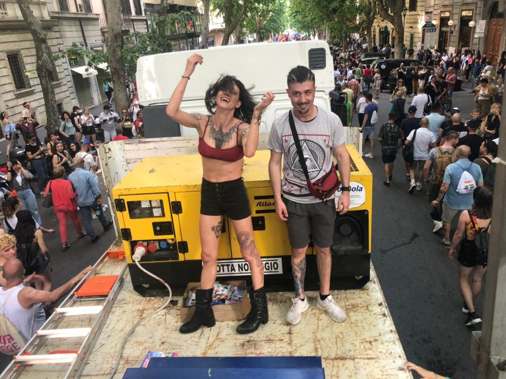 Asia Argento al Pride di Roma
