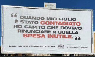 Uno dei tre manifesti affissi a Cagliari dal sindaco