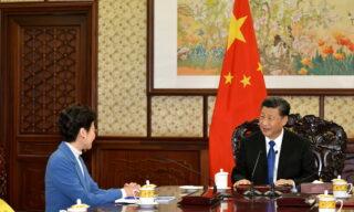 Hong Kong Chief Executive Carrie Lam visits Beijing