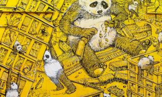 """Dettaglio di """"La pandemia"""", l'ultima opera di Blu realizzata a Campobasso"""