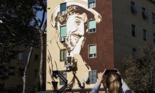 Roma: nuovo murales dedicato a Gigi Proietti al Tufello