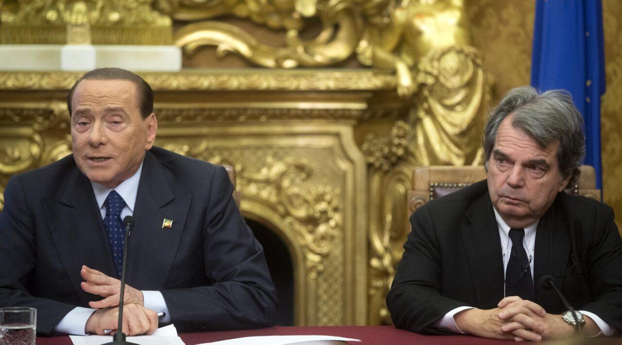 Il presidente di Forza Italia, Silvio Berlusconi e Renato Brunetta