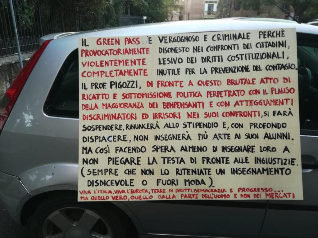 Gianfranco Pigozzi, insegnante No Green pass Orvieto