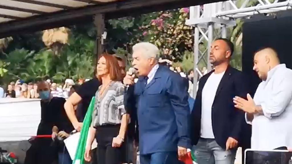 Parlò alla manifestazione No Green pass di Roma: sospeso il giudice Giorgianni – Il video