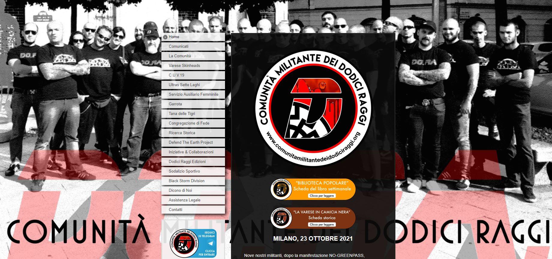 La Comunità dei Dodici Raggi: i neonazisti di Milano che dicono che i vaccini sono armi genetiche