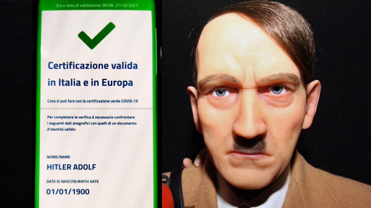 Ecco il Green pass di Adolf Hitler. No! Non è una bufala ma un grosso problema per l'Europa