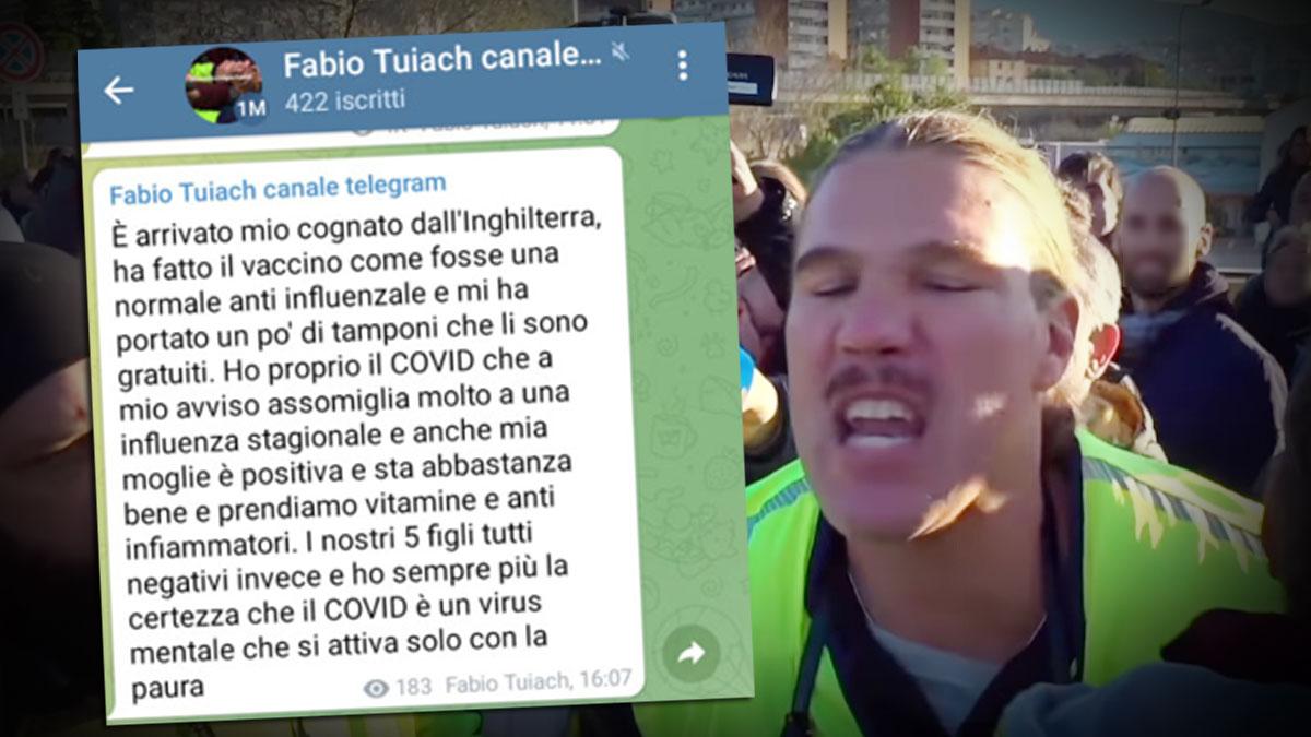 Trieste, l'ex consigliere No Green pass Fabio Tuiach dice di essere positivo alla Covid